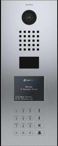 DoorBird D21DKV∙ Gebürsteter Edelstahl ∙ Unterputzmontage ∙ Display Modul · Keypad Modul