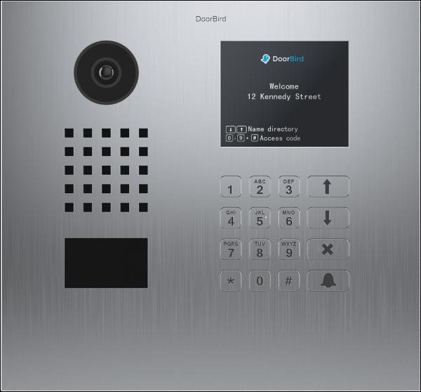 DoorBird D21DKV∙ Gebürsteter Edelstahl ∙ Unterputzmontage ∙ Display Modul · Keypad Modul-C