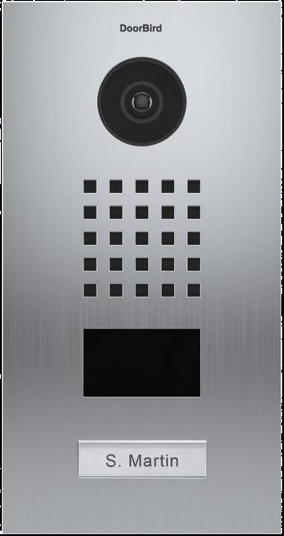 DoorBird D2101V ∙ Gebürsteter Edelstahl ∙ Unterputzmontage ∙ 1 Ruftaste