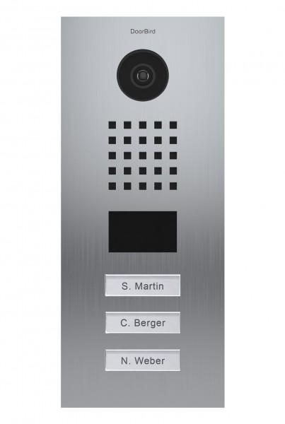 DoorBird D2103V ∙ Gebürsteter Edelstahl ∙ Unterputzmontage ∙ 3 Ruftasten